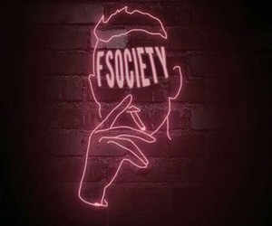 aesthetic, neon, and society image