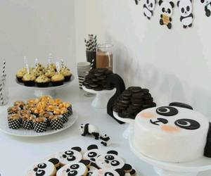 cake, panda, and party image