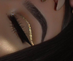 makeup, eyebrows, and nails image