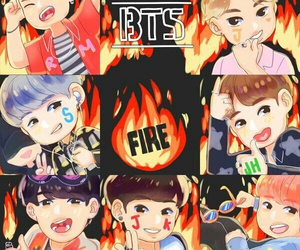 bts, fire, and fanart image