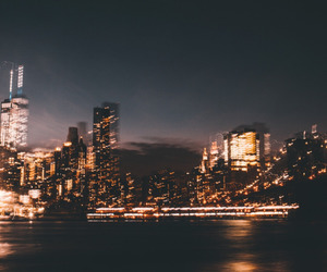 city, light, and night image