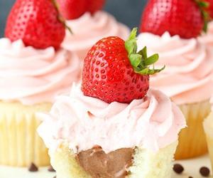 food, burger, and cupcake image