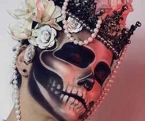 Halloween, makeup, and Queen image