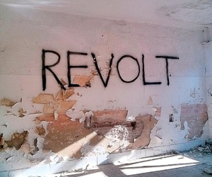 graffiti, wall, and revolt image