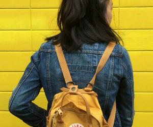 bag, girl, and yellow image
