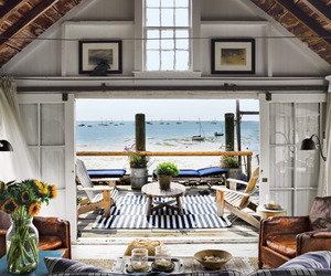 beach, house, and home image