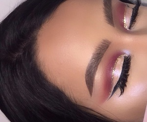 girly, glam, and lashes image