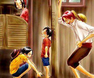 one piece, shanks, and ace image