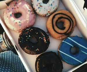 food, donuts, and dessert image