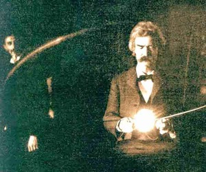 electricity, mark twain, and science image