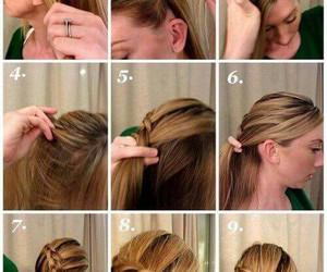 trenza, cabello, and peinado image