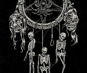 dream catcher and skeletons image