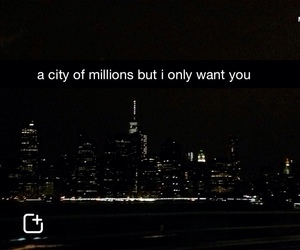 city, snapchat, and quotes image
