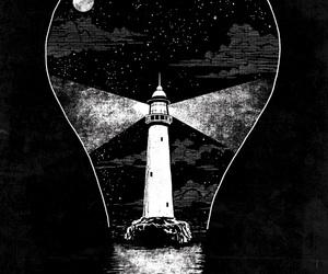 lightbulb and lighthouse image