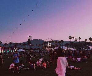 coachella, festival, and pink image