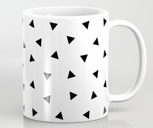 black and white, design, and geometric image