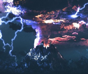 nature, volcano, and storm image