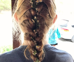 aesthetic, blond, and braids image