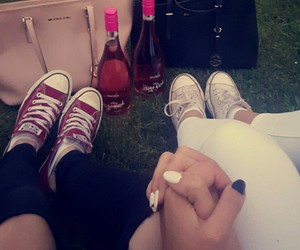 alcohol, chucks, and friends image