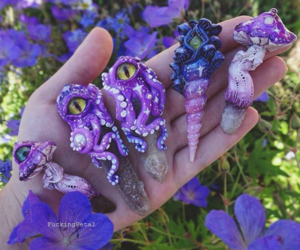 clay, polymer, and purple image