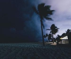 beach, night, and sky image
