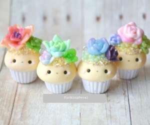 cactus, clay, and cupcakes image