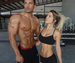 couple, fitness, and goals image