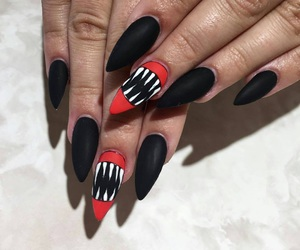 Halloween, nails, and black image