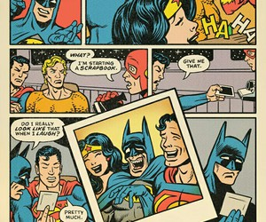 batman, superman, and comic image
