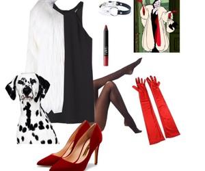 costume, cruella, and dalmatian image
