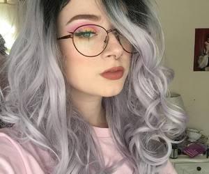 grey hair, long hair, and grey hairstyles image