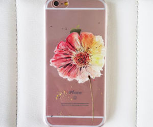 case, clear, and floral image