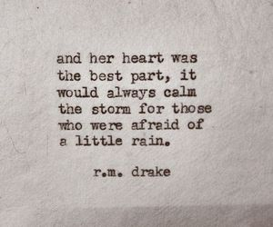 quotes, heart, and rain image