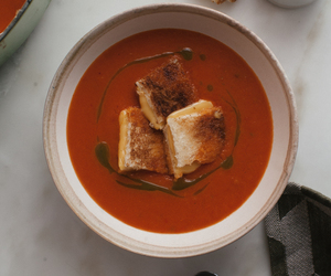 cheese, grilled cheese, and soup image