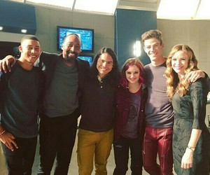 danielle panabaker, grant gustin, and flash image