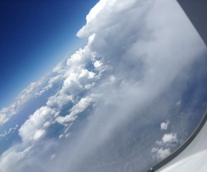 airplane, clouds, and pictures image