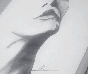 black&white, style, and drawing image