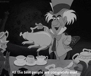 alice in wonderland, mad, and disney image