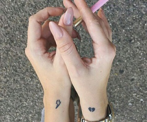 tattoo, nails, and cigarette image