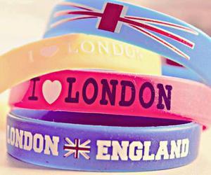 london, england, and bracelet image