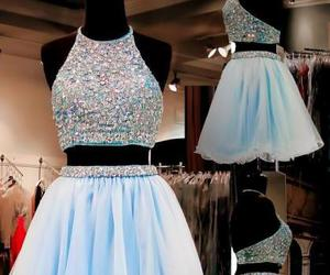 tulle homecoming dress, sweet 16 gowns, and 2 pieces prom dress image