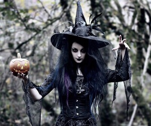 Halloween, pumpkin, and witch image