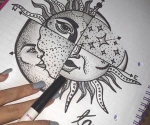 sun, drawing, and art image