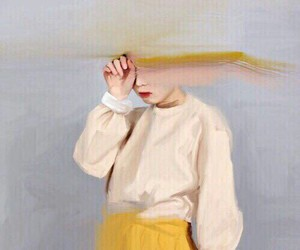 art, yellow, and painting image