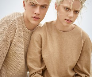 model, lucky blue smith, and beige image