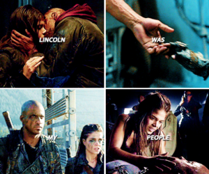 lincoln, marie avgeropoulos, and the 100 image