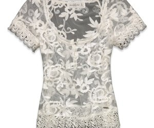 abercrombie and fitch, lace, and top image