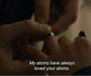 atoms, couple, and love image