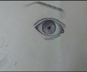 draw, eye, and drawings image