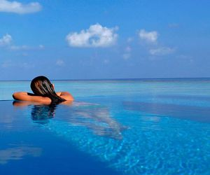 beach, summer, and maledives image